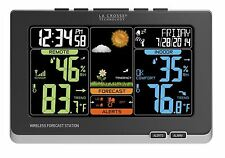 Wireless Color Weather Station Black Outdoor Temp. & Humidity Option La Crosse