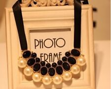 Pearls Necklace Elegant Style Fashion Accessories for Party Dress - Black