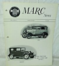 Model A News-Model A Restorers Club July 1962  MARC NEWS