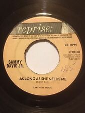 "SAMMY DAVIS JR. 7"" US ISSUE AS LONG AS SHE NEEDS ME / TWO FOR THE SEESAW R.20138"