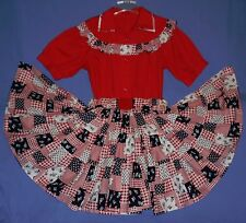 Mexican skirt and blouse womens-8-10-12;Cinco de Mayo costume;Square Dance;rose