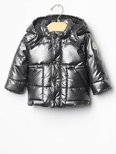 GAP Baby Boy 6-12 Months NWT Silver Warmest Puffer Jacket Coat