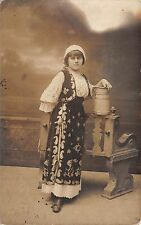 B514 woman   romania types folklore costumes