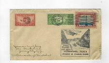 First Flight Air Mail Cover Miami FL 2/4/1929 To Canal Zone