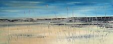 LARGE ORIGINAL MODERN ACRYLIC LANDSCAPE ABSTRACT PAINTING 100x40cm box canvas