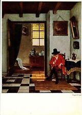 Alte Kunstpostkarte - Hugo Krings - Der Raucher