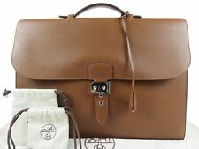 HERMES Sac A Depeche41 Business Bag Briefcase mens vache trekking □M 100% Auth