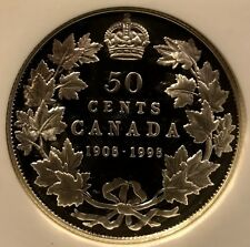 Canada - 50 Cents - 1998 - 90th Anniversary of RCM - NGC PF69UCAM -FREE SHIPPING