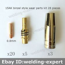 OEM Binzel BW MB 15AK 15 AK Contact Tip Nozzle Holder MIG-200 Welding Torch 28