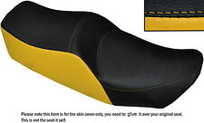 BLACK & YELLOW CUSTOM FITS KAWASAKI Z 550 LTD DUAL LEATHER SEAT COVER ONLY