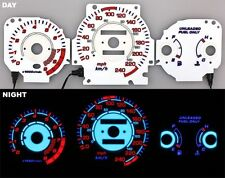 96-00 Civic EX Si GLi Glow Gauges White Face Reverse Style MT KMH Night Glow