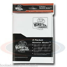 Monster Protector Album Binder 4 Pocket Matte White With 20 Pages