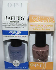 OPI RAPIDRY Top Coat & Tickle My France-y Nail Polish Lacquer .05 oz Each