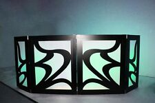 DJ FACADE/LED/BOOTH - Glissando (Black) by Dragon Frontboards