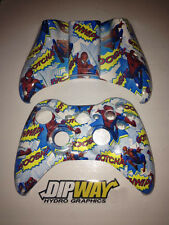 CUSTOM DIPPED SPIDERMAN WHITE XBOX 360 WIRELESS CONTROLLER SHELL, BUTTON SET