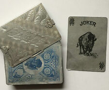 c.1901 Aluminum Playing Cards Pan-American Expo Poker 52 w/ Joker & Metal Case