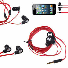 In-Ear Earbud Earphone Headset Headphone For iPod Android Phone MP3 Red
