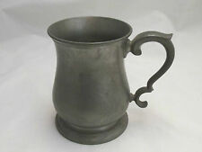 A Pewter Pint Tankard - Crown & Rose - early 20th Century