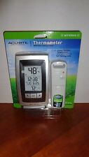 Acu-Rite Wireless Indoor/Outdoor Thermometer High/Low Clock/Date Grey Gray/Black