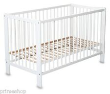 KID'S BED NICO BABY FURNITURE WHITE WOODEN INCL. SLATTED FRAME 60 x 120 CM New