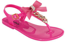 JELLY-64K Toddlers Youth Wedding Party Sandals Girls' Dress Shoes Fuchsia 2