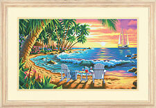 Sunset Beach Paint By Number Kit Kim Norlien Dimensions 20x12 NEW