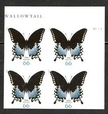 2013 # 4736 66¢ Spicebush Swallowtail Butterfly PB 4 Without Die Cuts MNH