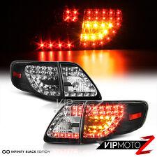 2009-2010 Base LE XLE XRS S Corolla Black LED Rear Brake Tail Lights Trunk 4PC