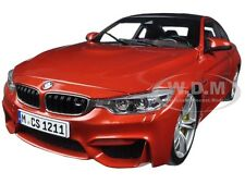 BMW M4 COUPE ORANGE 1/18 DIECAST MODEL CAR BY PARAGON 97101