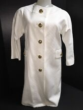 MILLY NY White Coat Gold Buttons Size 2 S Lined No coller