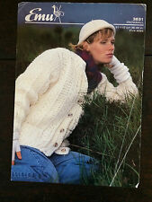 "Emu Knitting Pattern: Ladies Chunky Cardigan, 36-44"", 3831"
