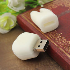 8GB White Tooth Model USB 2.0 Flash Memory Stick Pen Drive U Disk Thumb Storage