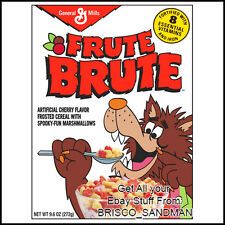 Fridge Fun Refrigerator Magnet FRUIT (FRUTE) BRUTE MONSTER BREAKFAST CEREAL 80s