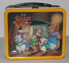 VINTAGE METAL LUNCHBOX W/PLASTIC THERMOS 1982 THE SECRET OF NIMH
