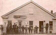 PEOPLE POSE BY STORES IN ATLANTA, INDIANA & ORIGINAL ca 1900's  PHOTO SCARCE