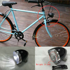 Super Bright 5LED Vintage Bike Bicycle Retro Headlight Front Fog Light Head Lamp