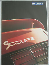 Hyundai SCoupe range brochure c1991