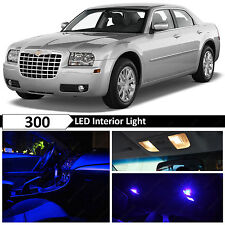 14x Blue Interior LED Lights Package Kit 2005-2010 Chrysler 300