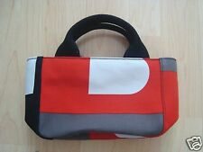 NEW!  Rare BALLY Canvas Colorblock MINI TOTE Purse Handbag Bag ITALY