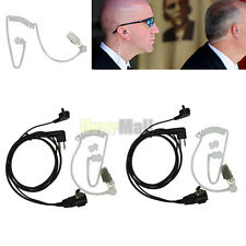 2Pcs Headset Mic Covert Acoustic Tube Earpiece for Motorola Radio Security 2 Pin