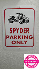 CAN-AM SPYDER F3 - METAL PARKING SIGN