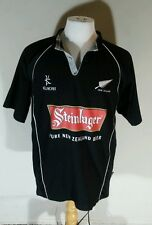 New Zealand Black Steinlager Kukri Rugby Jersey USA Sevens Shirt Sz XL