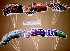 12 X Disney Cars Cake Picks /Flags Cupcake Toppers Planes 2 Party Decorations#43