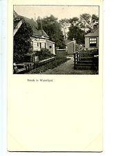 Town View-Houses-Homes-Broek in Waterland-Holland-Netherlands-Vintage Postcard