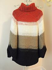 MICHAEL KORS Knitted Poncho Sweater Size M