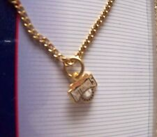 Washington Nationals logo gold tone necklace MLB