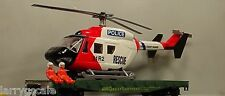 Coast Guard Police Rescue Helicopter 10 Inch Multi Scale Diorama Accessory Item