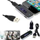 Wireless Music to Car Radio FM Transmitter For 3.5mm MP3 iPod iPhone HTC Samsung