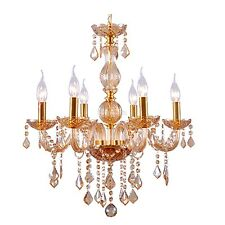 Homdox 6 Candle Light Ceiling Lamp Fixture Crystal Chandelier Pendant Lighting