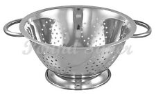 28cm COLANDER DEEP STRAINER SPAGHETTI PASTA SALAD CHEF KITCHEN HIGH QUALITY